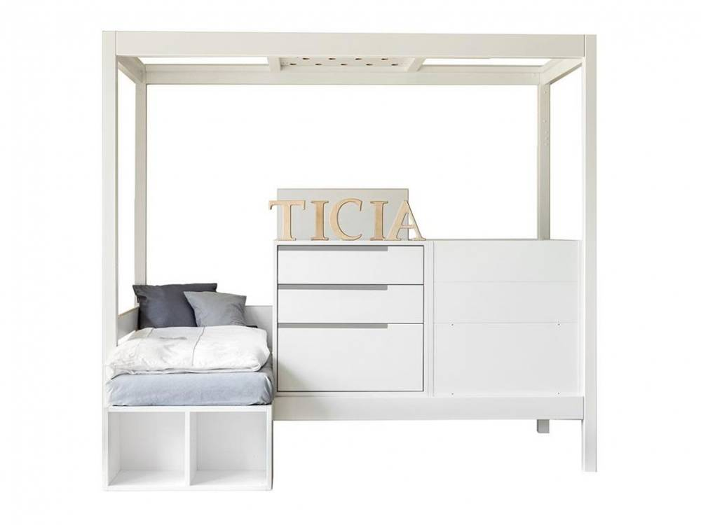 3 in 1 Bett Ticia for Two Weiß - Farbig, Complojer for Kids Platium Grey (F36)