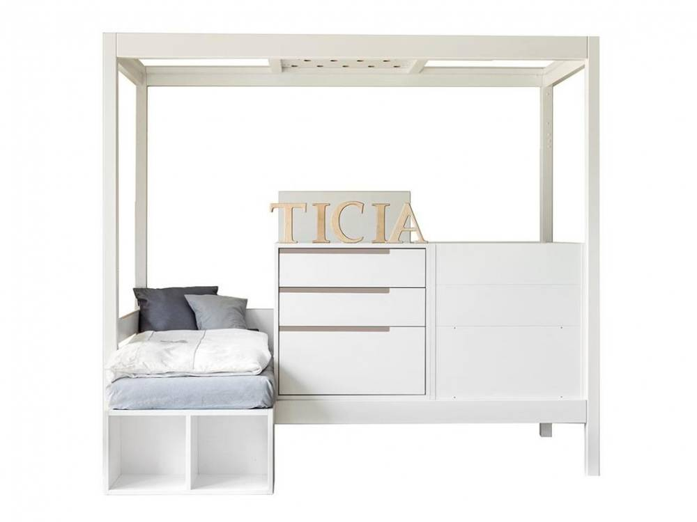 3 in 1 Bett Ticia for Two Weiß - Farbig, Complojer for Kids