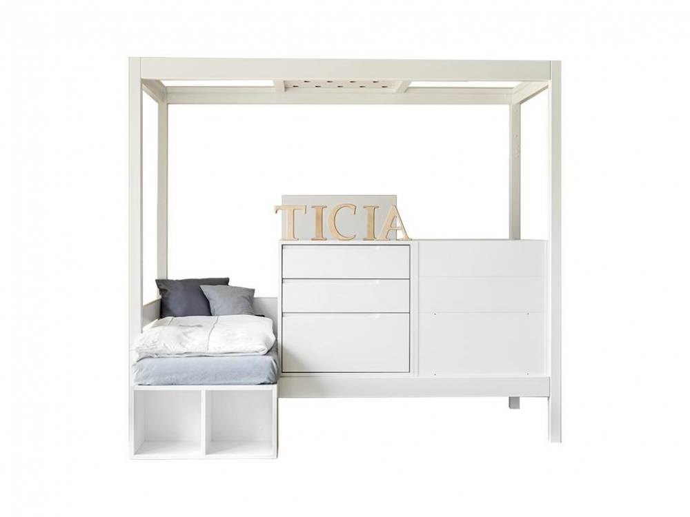 3 in 1 Bett Ticia for Two Weiß, Complojer for Kids