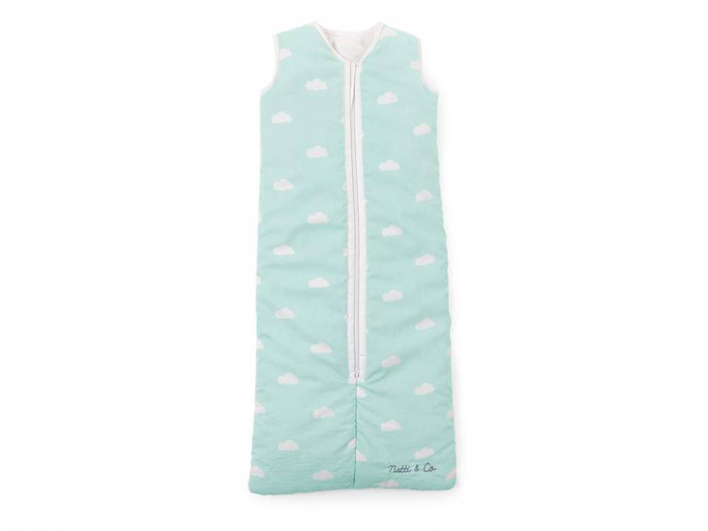 Baby Sommer Schlafsack 70 - 90cm, Snoozy Clouds Mint Blue, Childhome