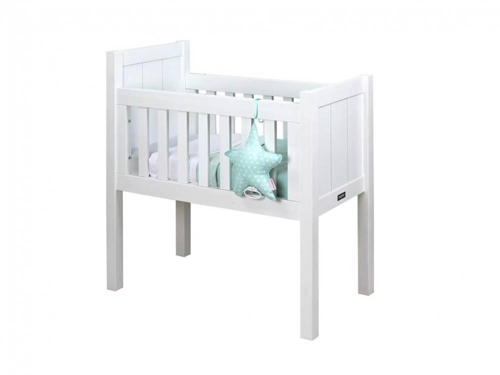 Baby Wiege Basic Wood White Wash 40x80cm, Bopita