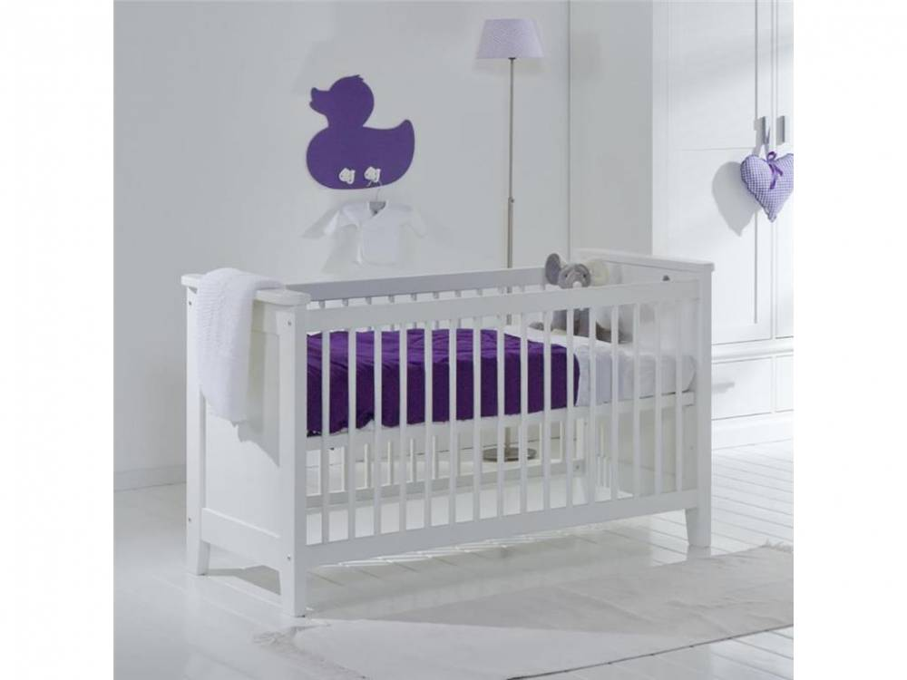 Babybett Elegance Snow white, 60x120cm, Lattenrost 3x verstellbar ALTA furniture