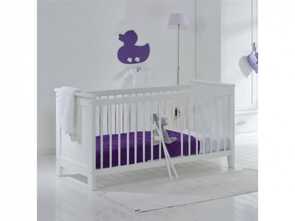 Babybett Elegance Snow white, 70x140cm, umbaubar zum Juniorbett, ALTA furniture