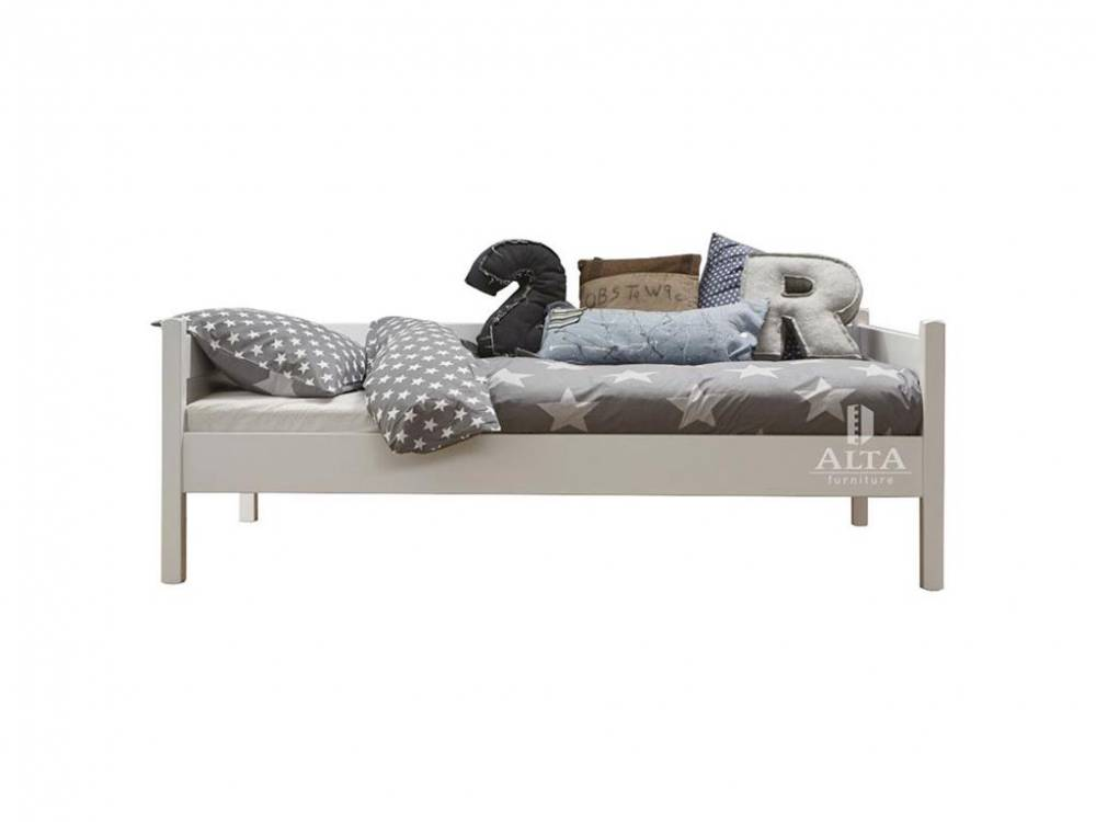 Bettcouch Weiß Snow white, 90x200cm, ALTA furniture