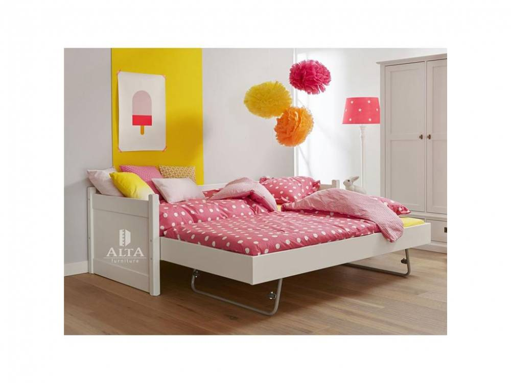 Bettcouch mit Jump-up Gästebett Snow white, 90x200cm, ALTA furniture