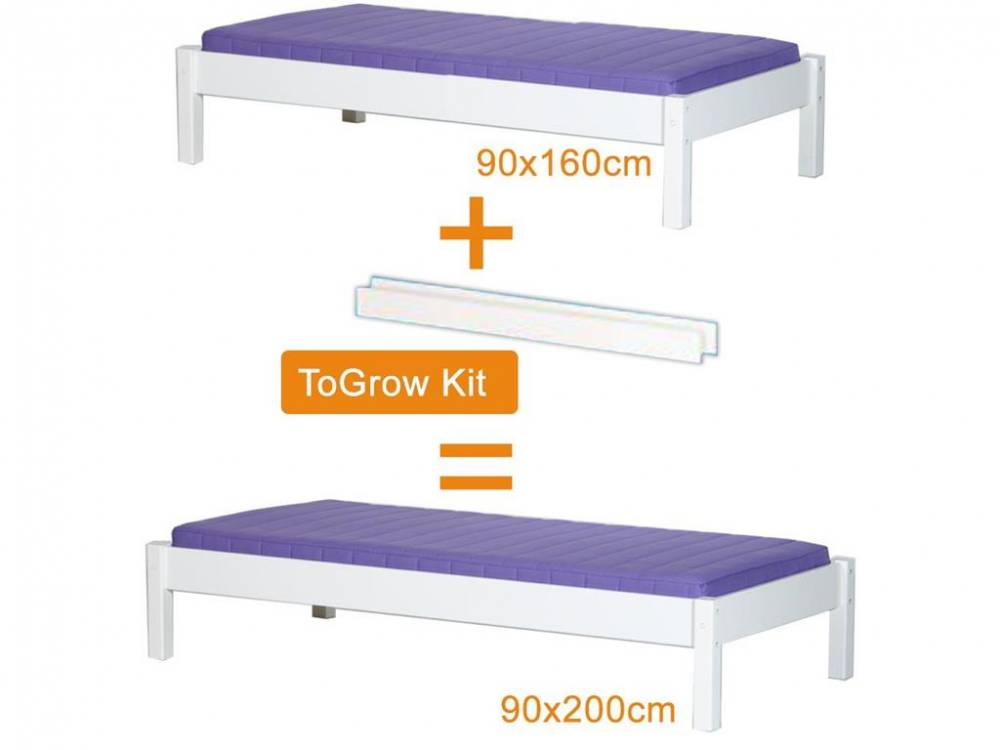 Bettseiten für Bettliege Manis-h Junior 160cm auf 200cm ToGrow Kit Rot (33)