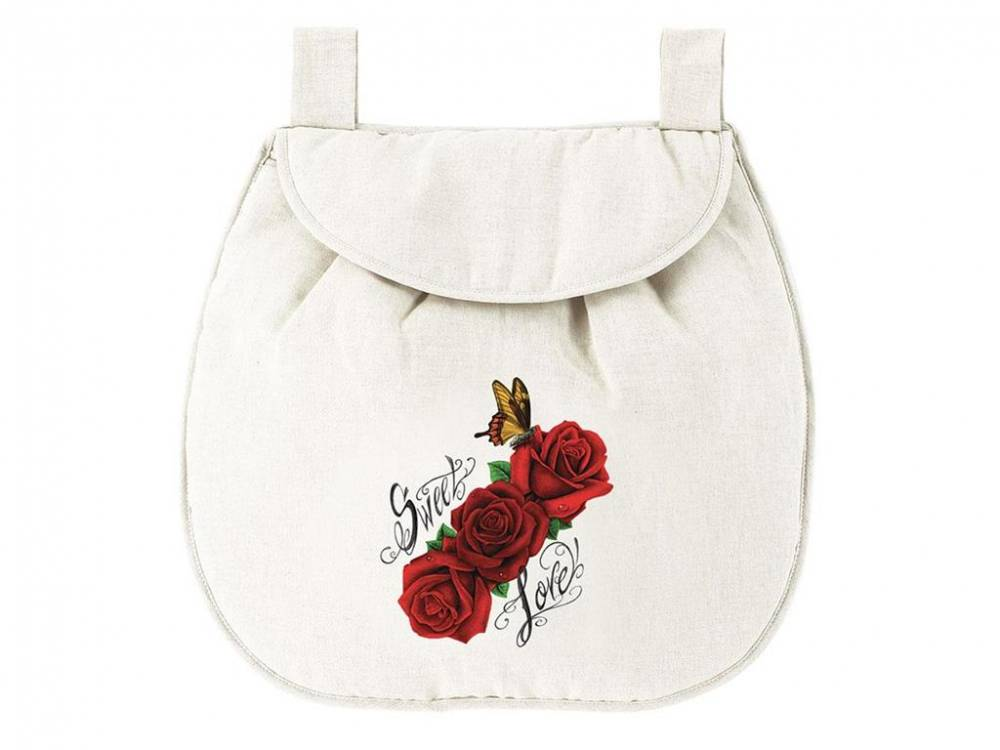 Betttasche Vanilla Red Roses, HUGS FACTORY