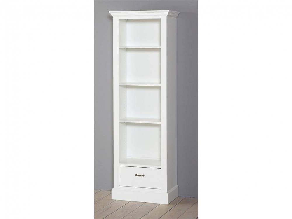 Bücherschrank Groß mit 1 Schublade Snow white, ALTA furniture