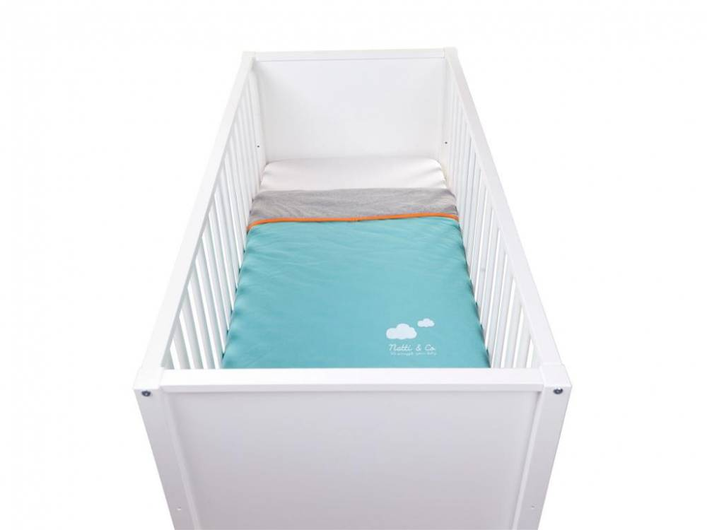 Decke 80x100cm Pool Blue, Jersey, Childhome