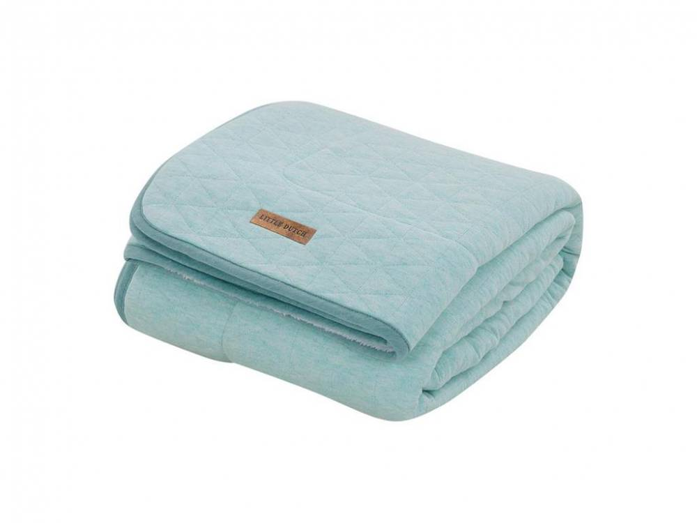 Decke Pure&Soft, Mint Melange, 70x100cm, Little Dutch