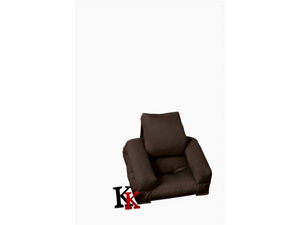 Futon Sessel Karup Baby HIPPO, Kindersessel Brown (915)