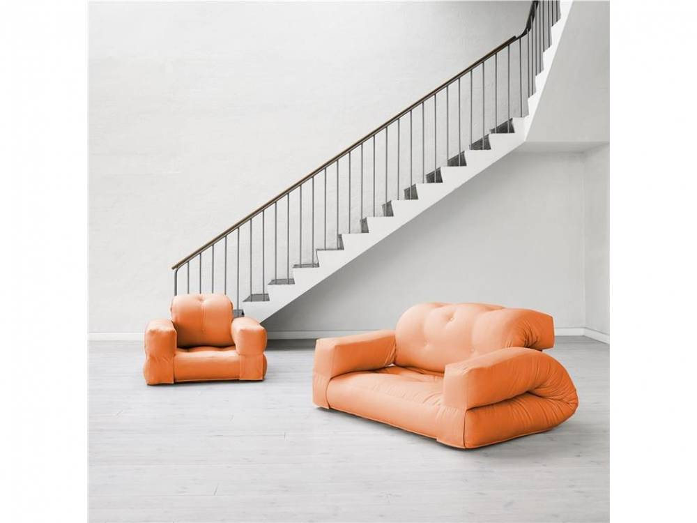 Futon Sofa, Schlafsofa, Karup HIPPO  Orange (938)