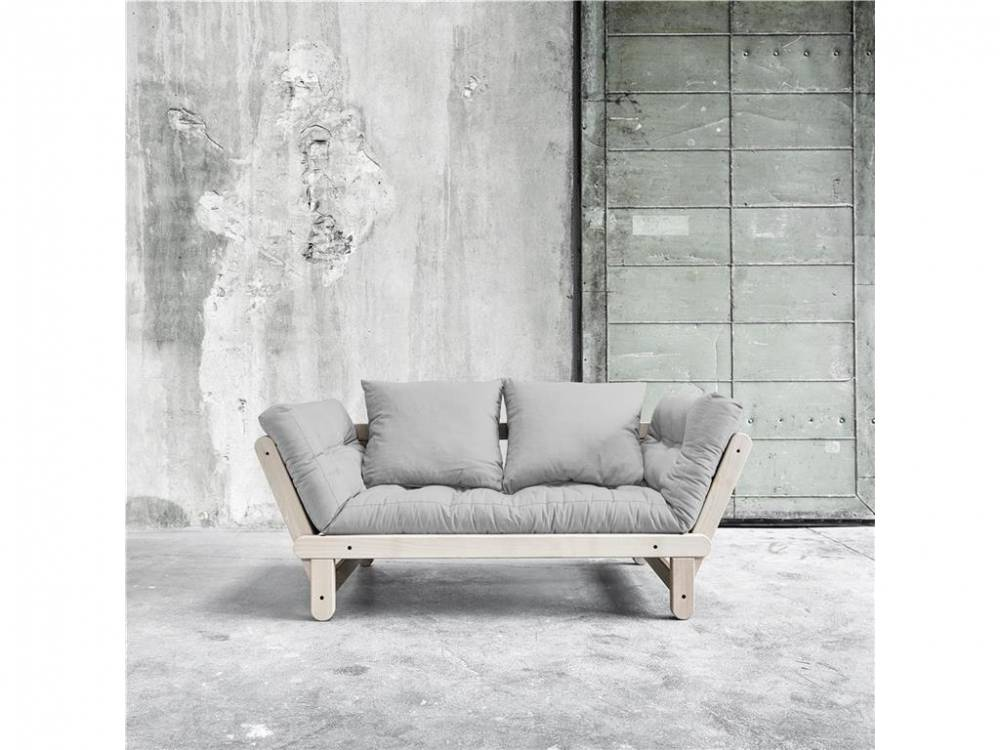 Futonsofa Gestell Buche Natur lackiert Kaup BEAT Light Gray (301)