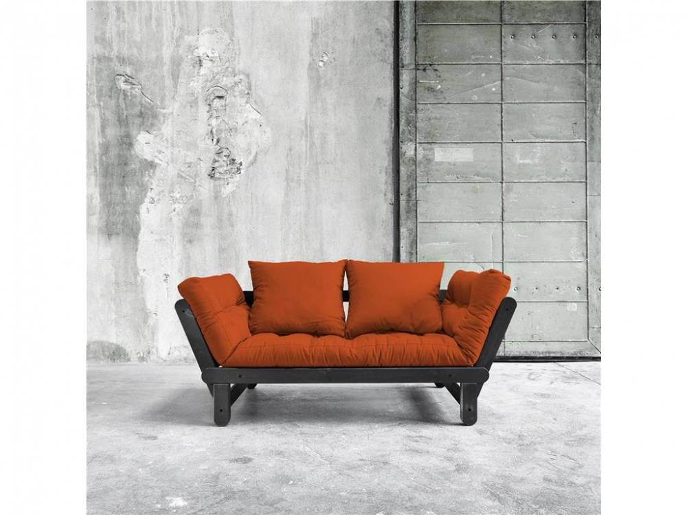 Futonsofa Gestell Schwarz Karup BEAT Orange (738)
