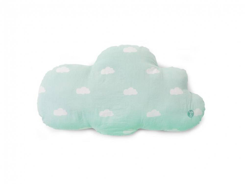 Kissen Snoozy Clouds Mint Blue, 30x40cm, Childhome