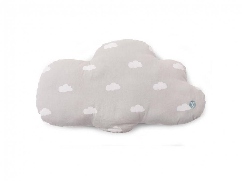 Kissen Snoozy Clouds Mouse Grey, 30x40cm, Childhome