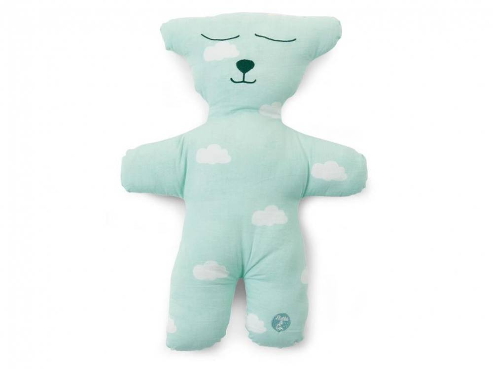 Kissen Teddybär, Snoozy Clouds Mint, Childhome