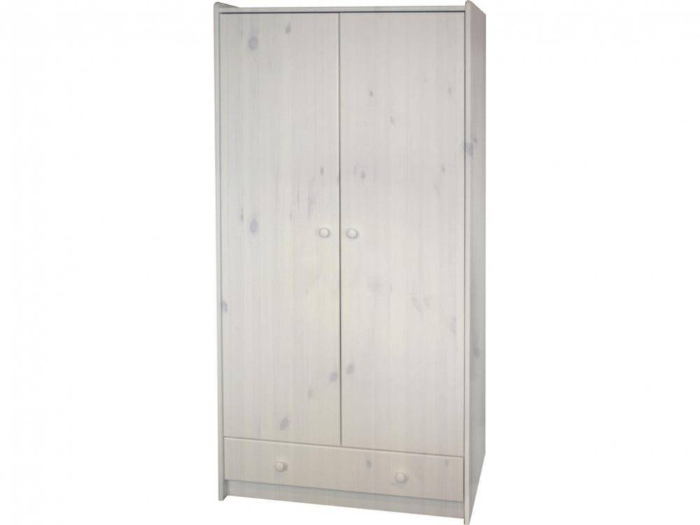 Kleiderschrank massiv, 2-türig, Steens for Kids White wash (13)