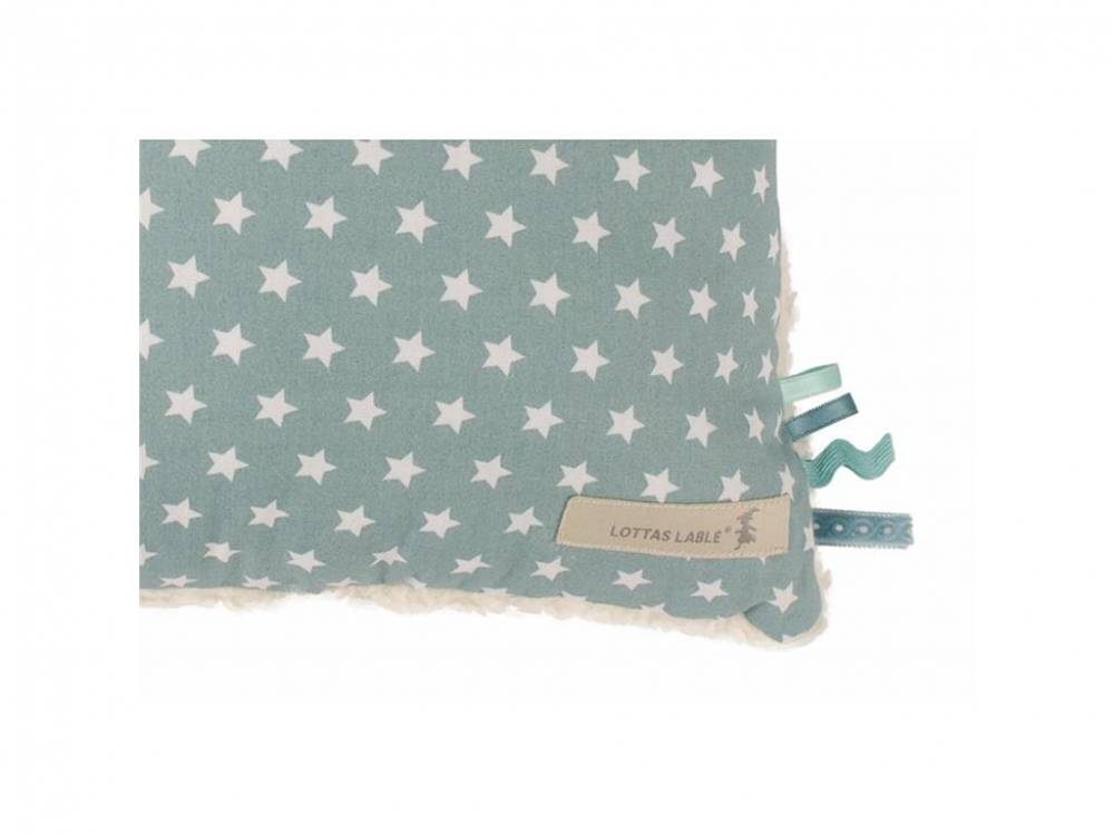 Kuschelkissen Star Aquamarin, 40x40cm, Lottas Lable®