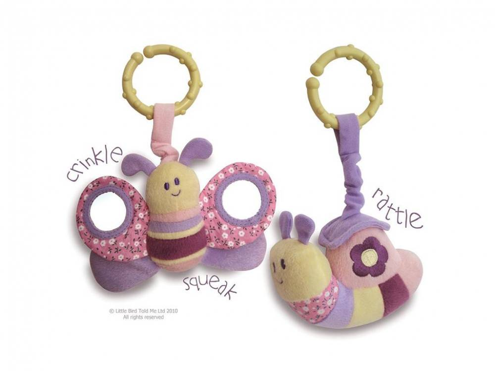 Little Bird told me, Activity Spieltier 2er-Set Schmetterling & Schnecke