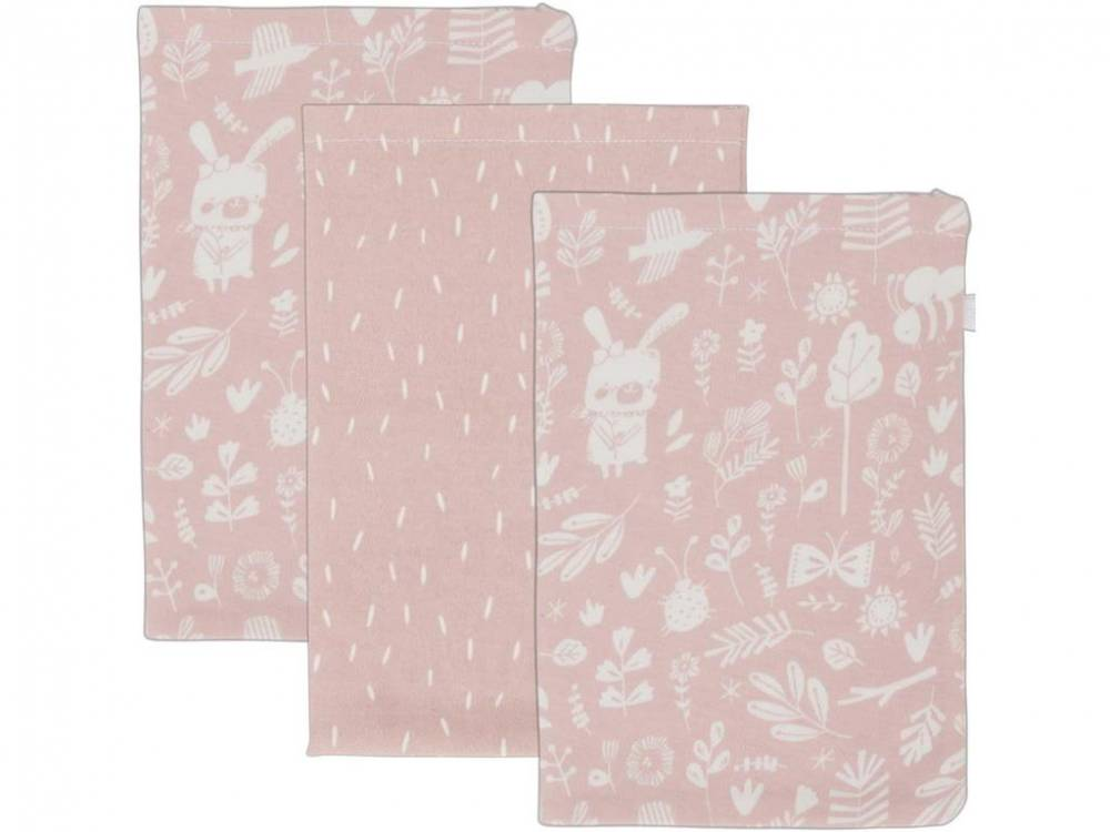 Little Dutch Waschlappen 3er-Set, Adventure Pink