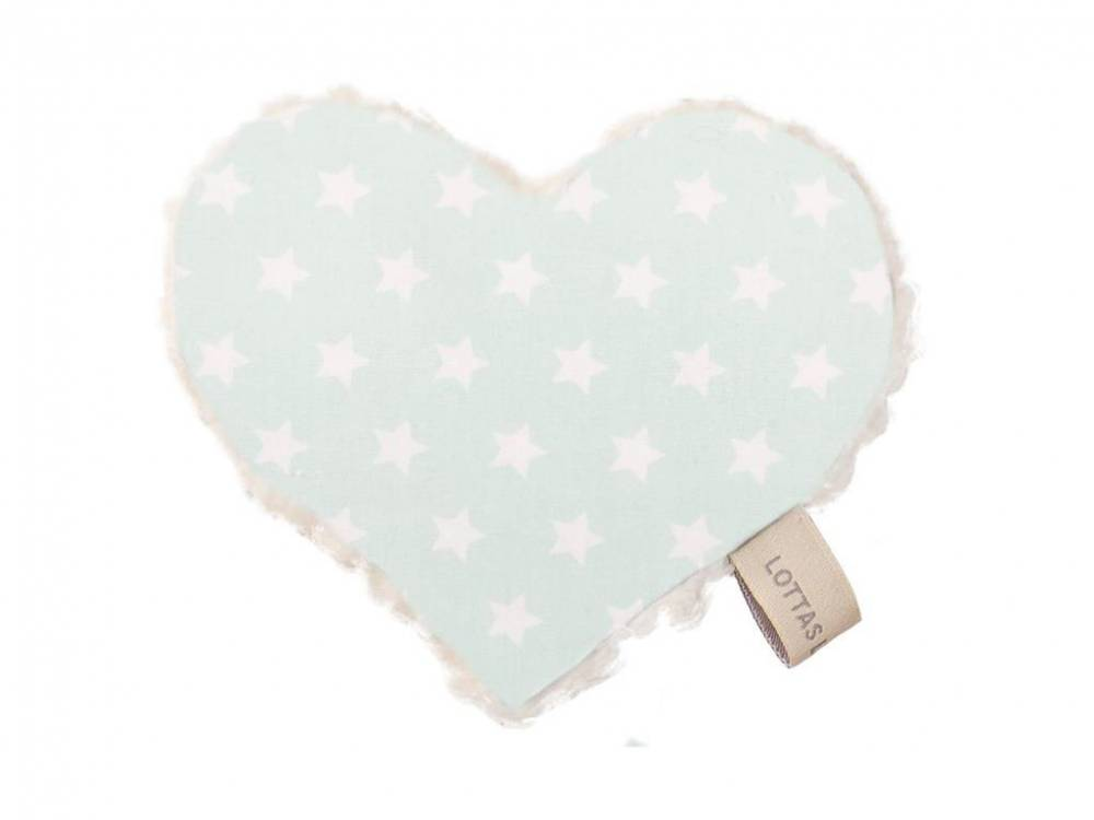 Lottas Lable® Knistertuch Herz Linda Lou ,Star Mint