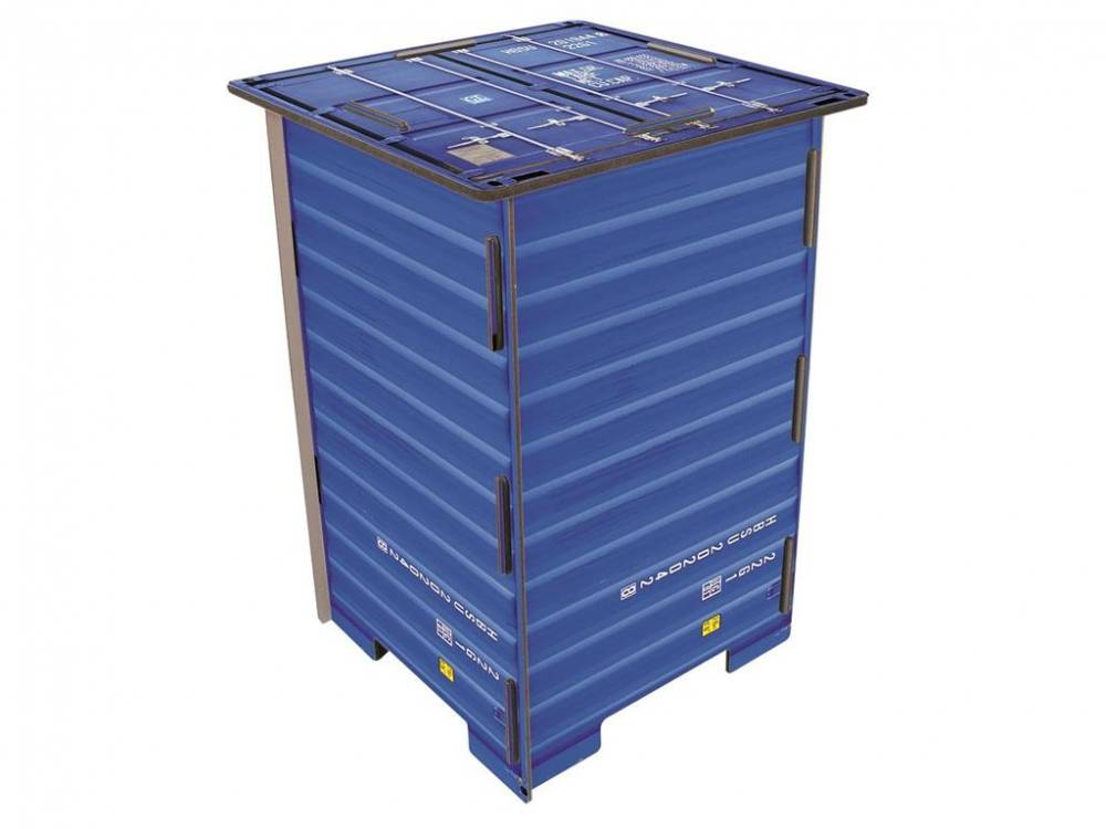 Photohocker Container Blau, Werkhaus