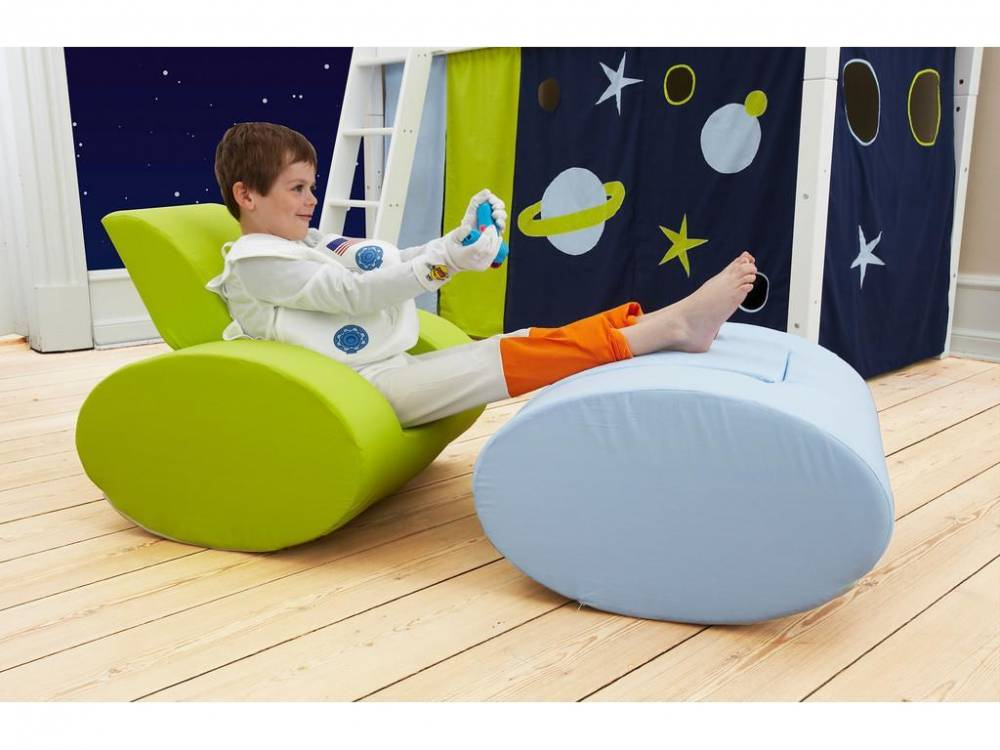 Sessel Ellipse Hellblau, Space, Kindersessel, Hoppekids