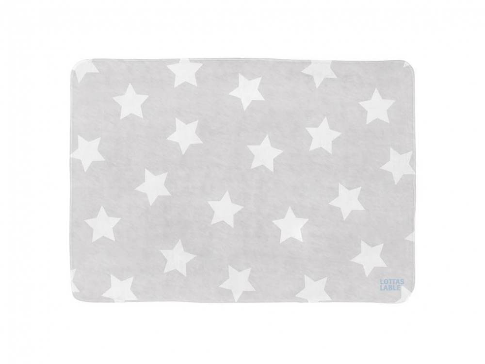 Spielteppich SOFTIE Star Grau 70x100cm, Lottas Lable®