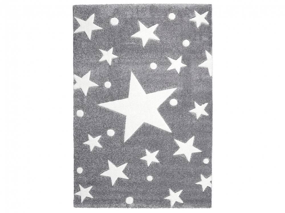 livone teppich stars silbergrau wei 200x300cm happy rugs livone. Black Bedroom Furniture Sets. Home Design Ideas
