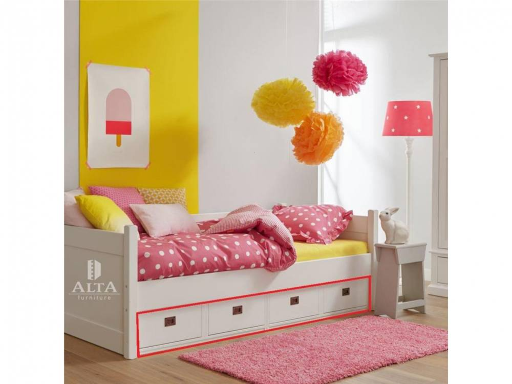 Unterschrank mit 4 Schubladen Snow white, ALTA furniture