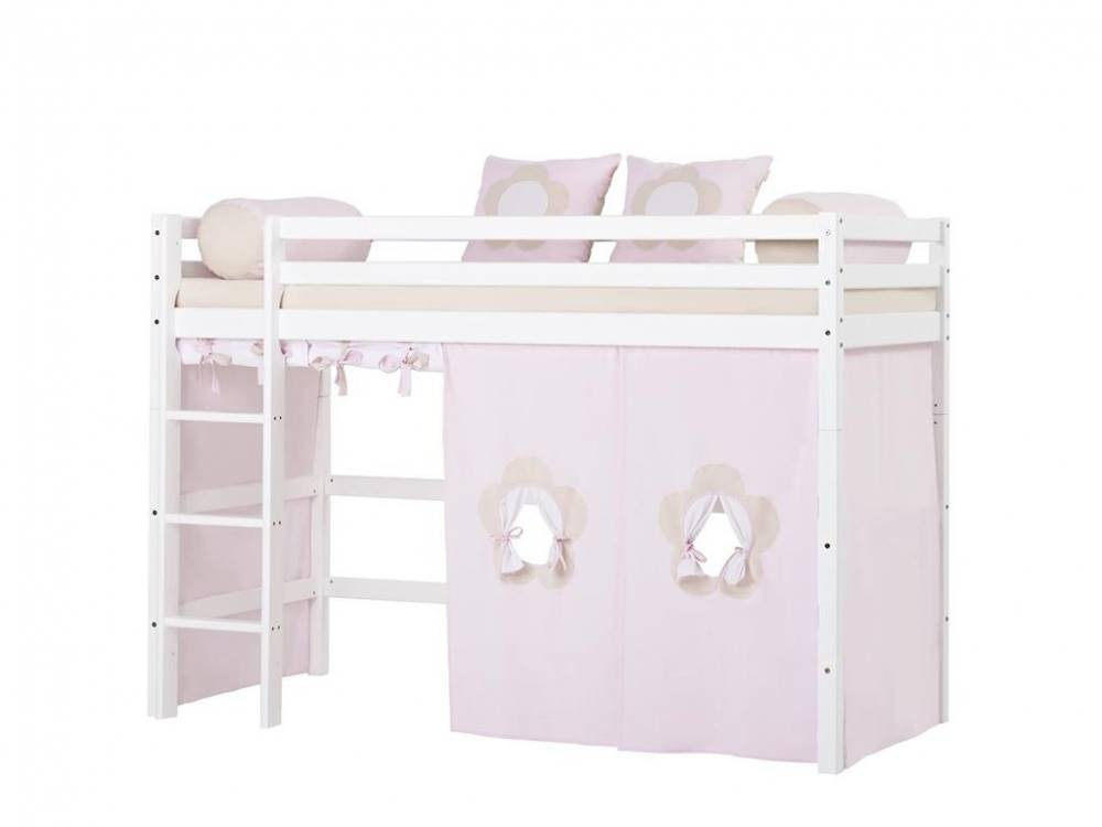 hoppekids vorhang fairytale flower f r hochbett. Black Bedroom Furniture Sets. Home Design Ideas