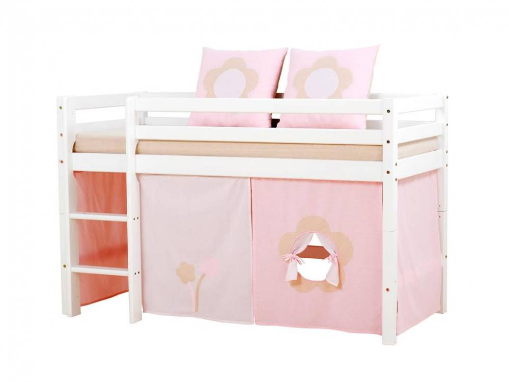hoppekids vorhang fairytale flower f r spielbett oder etagenbett 70x160cm hoppekids. Black Bedroom Furniture Sets. Home Design Ideas