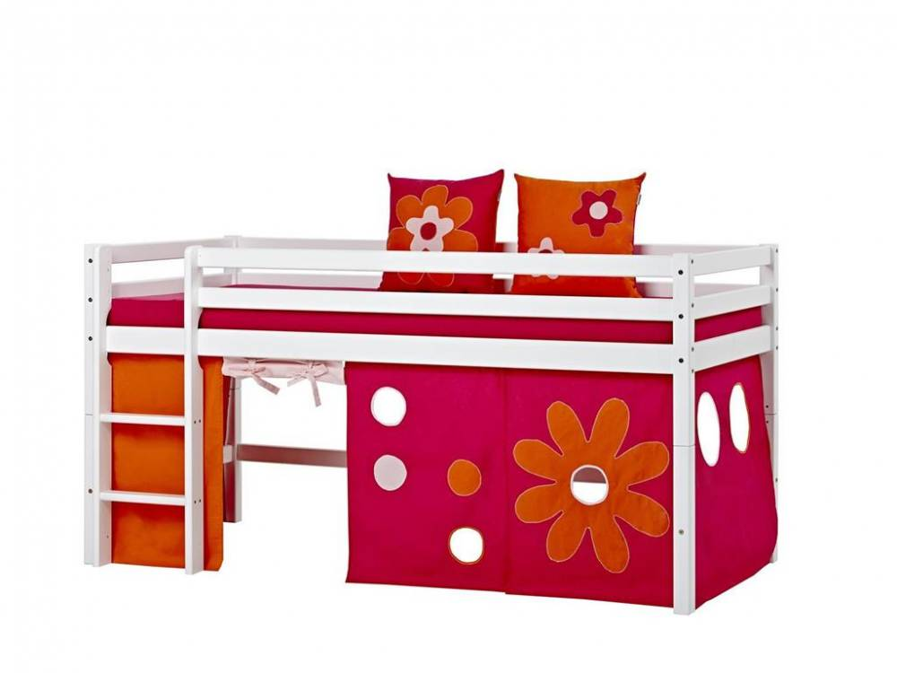 hoppekids vorhang flower power f r spielbett und etagenbett 90x200cm hoppekid. Black Bedroom Furniture Sets. Home Design Ideas