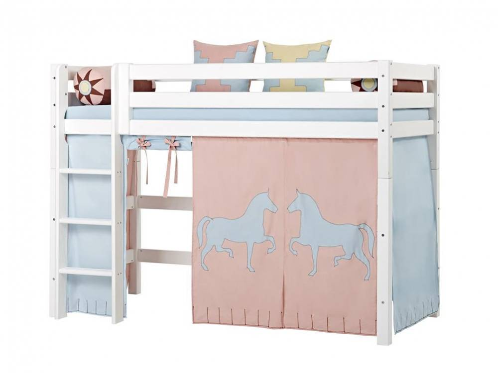 hoppekids vorhang indian girl f r hochbett midisleeper etagenbett 90x200cm hoppekids. Black Bedroom Furniture Sets. Home Design Ideas