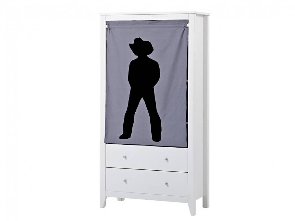 hoppekids vorhang f r schrank regal hans cowboy. Black Bedroom Furniture Sets. Home Design Ideas