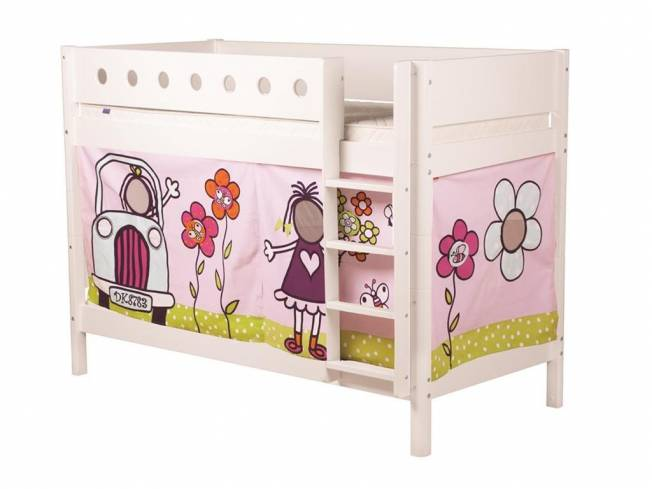 flexa girlie vorhang f r hochbett h he 77cm. Black Bedroom Furniture Sets. Home Design Ideas