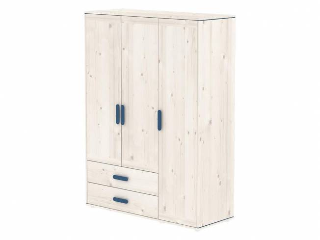 flexa harmony kleiderschrank mit 3 t ren und 2 schubladen nordic blue. Black Bedroom Furniture Sets. Home Design Ideas