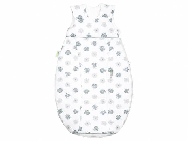 airpoints® Jersey-Schlafsack Flowers Gr. 110 Light Grey