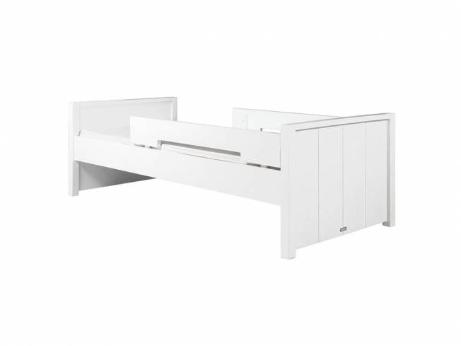 bopita basic wood juniorbett white wash 90x160cm inkl rausfallschutz. Black Bedroom Furniture Sets. Home Design Ideas