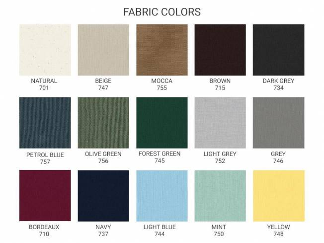 Stoffmuster Fabric Colors