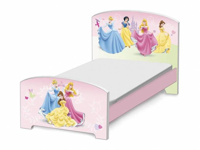 Kinderbett Disney Princess, Liegefläche 70x140cm, Delta Children