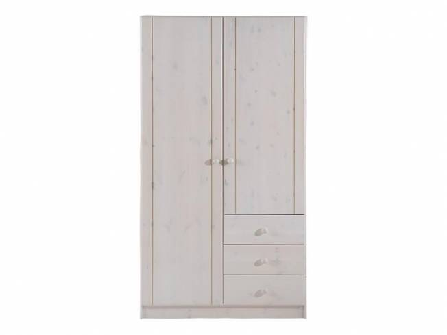 dolphin kleiderschrank wei 2 t rig h he 185cm kiefer massiv. Black Bedroom Furniture Sets. Home Design Ideas