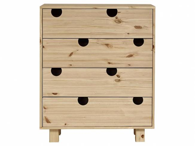 karup kommode mit 4 schubladen kiefer natur house. Black Bedroom Furniture Sets. Home Design Ideas