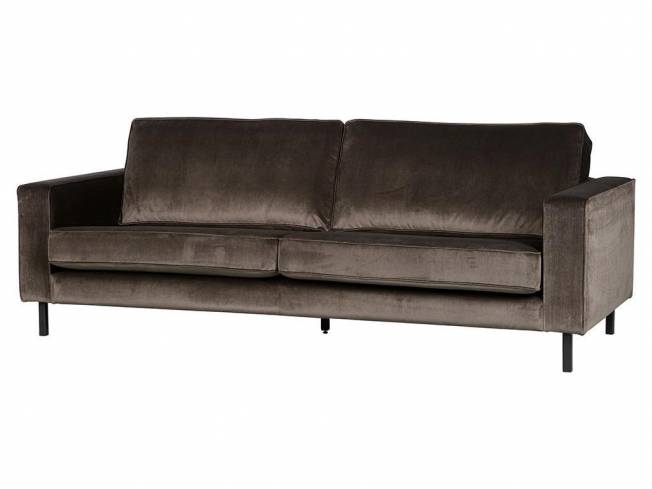 woood robin sofa 3 sitzer samt gr n. Black Bedroom Furniture Sets. Home Design Ideas