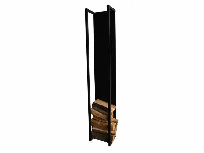 spinder cubic fire kaminholz aufbewahrung stahl schwarz struktur h he 173cm. Black Bedroom Furniture Sets. Home Design Ideas