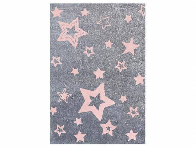 livone happy rugs teppich starlight grau rosa 130x190cm. Black Bedroom Furniture Sets. Home Design Ideas