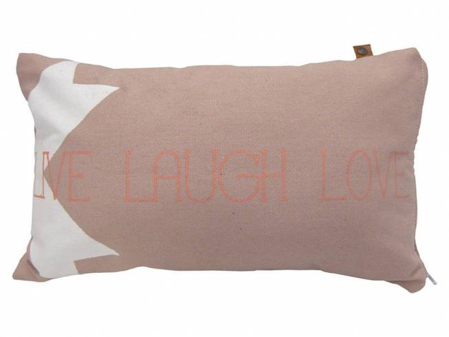 Kissen Live Laugh Love Blush 30x50cm