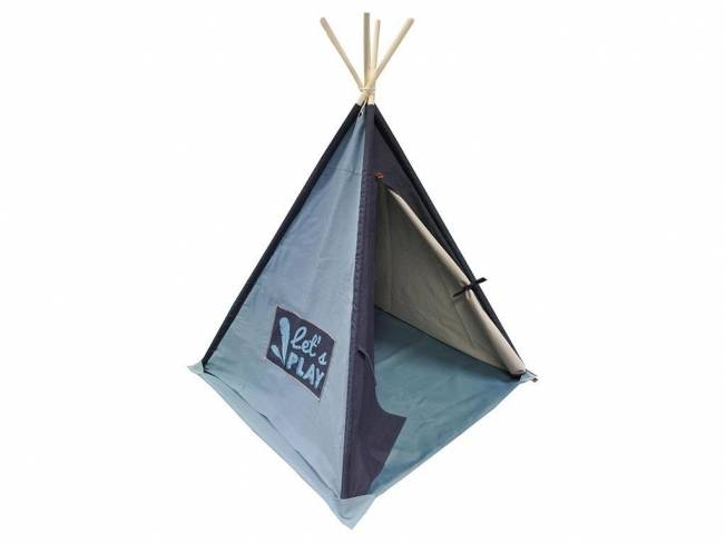 KIDding! Tipi Kids Canvas Basic Soft Blue/Navy 140x112cm