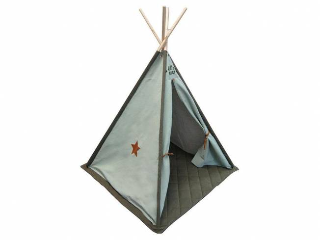 KIDding! Tipi Kids Canvas Luxe Ice/Olive 140x112cm